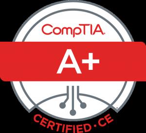 CompTIA A PLUS Logo Certified CE
